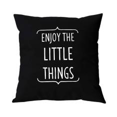 Enjoy the little things handmade cushion cover