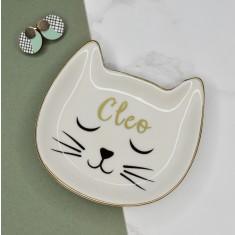 Personalised Cat Trinket & Jewellery Dish