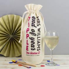 Personalised Teachers End Of Year Tipple Wine Bag