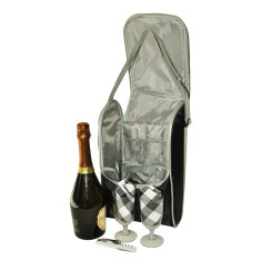 Insulated wine and cheese pack (2 person)
