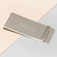 Silver Plated Personalised Money Clip
