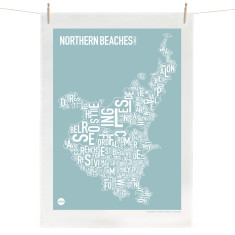 Northern Beaches tea towel