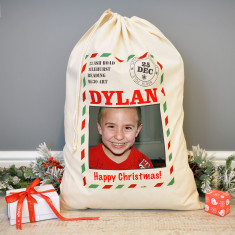 Personalised Photo Postcard Christmas Sack