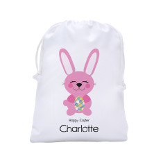 Personalised Easter egg hunt tote bag in bunny design