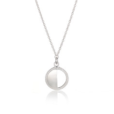Sterling Silver Half Moon Phase Necklace