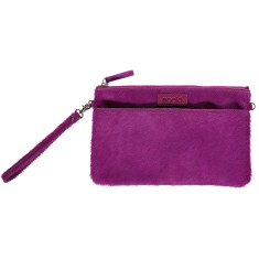 nooki design - luxe hair on leather clutch