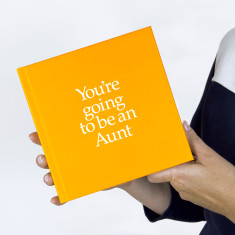 You're going to be an aunt book with gift