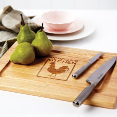 Personalised rooster chopping board