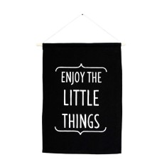 Enjoy the little things handmade wall banner