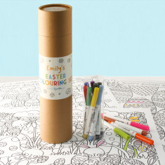 Personalised Easter Colouring Set