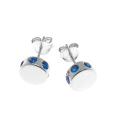 Isabelle stud earrings in silver