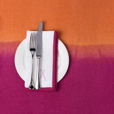 Pink and orange dip dye tablecloth