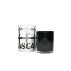 Coconut, lime & verbena black candle