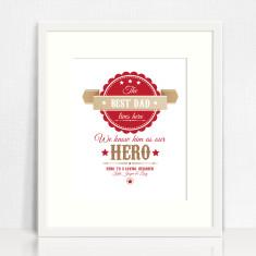 Dad's hero personalised print