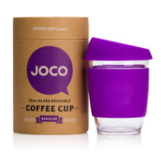 Purple reusable glass cup (12oz)
