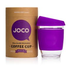 Purple reusable glass cup (12oz)
