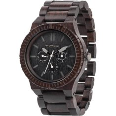 Kappa Black Wood Watch