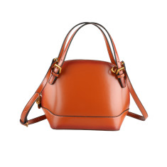 Leather Handbag Shoulder Bag In Brown