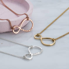 Personalised Mummy & Baby Infinity Necklace