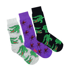 Loco spider and crocodile socks (3 Pack)