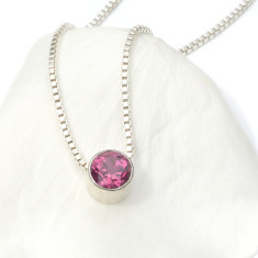 Tourmaline necklace October birthstone