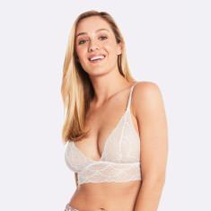 Fine Lace Bralette In White