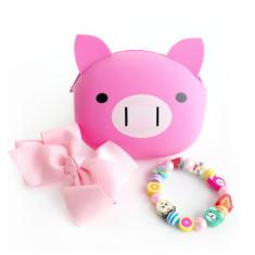 Pink jewellery gift set