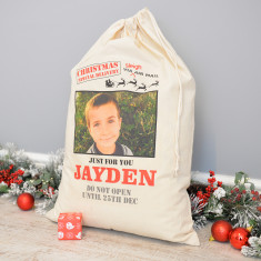 Personalised Photo Christmas Sack