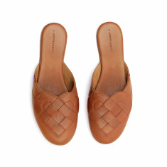 Elskling Premium Mule Slipper Tan Leather