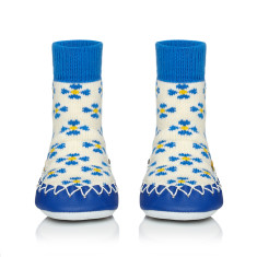 Forget me not Swedish moccasin slippers
