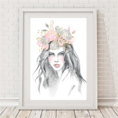 Flower Godess Watercolour Print