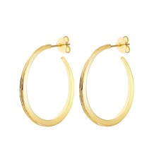 Luna gold hoop earrings