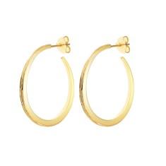 Luna gold hoops