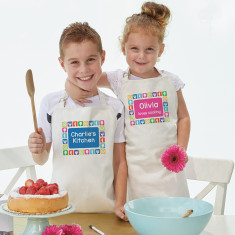 Personalised kid's aprons