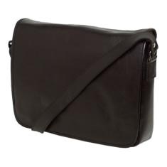 Julius black leather messenger bag