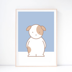 Dash Dog Nursery Art Print