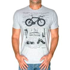 I-tri men's t-shirt in grey marle