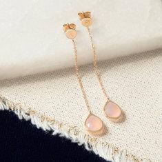 Personalised Gemstone Dop Earrings