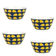 Kissing Hedgehogs Melamine Bowls (Set of 4)