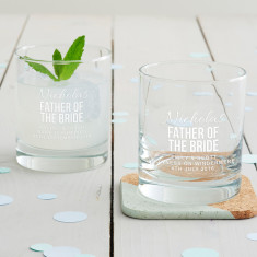 Personalised Father Of The Bride Tumbler Glass
