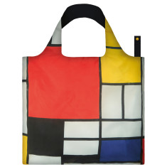 LOQI reusable bag in museum collection in piet mondrian