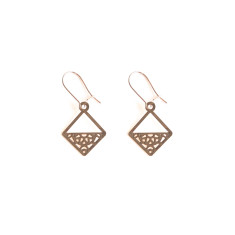 Rose Gold Aquarius Earring
