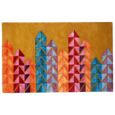 Vibrance designer hand tufted wool & art silk rug