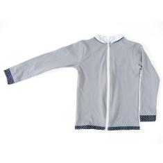 Long sleeved zip-up rashie in grey