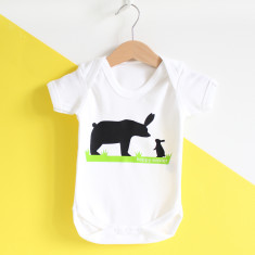 First Easter Hoppy Easter Baby Grow