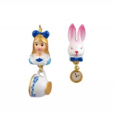 Alice and the White Rabbit earrings