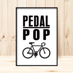 Pedal pop art print