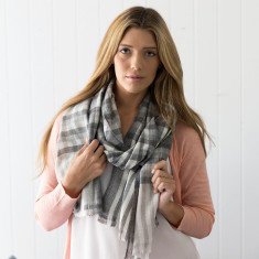 Check pashmina scarf