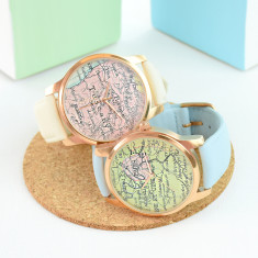Personalised Map Watch Rose Gold