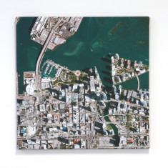 Aerial Photograph Wall Map Canvas